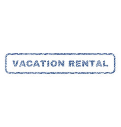 Vacation rental textile stamp vector