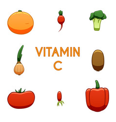 Vitamin c products vector