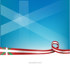 Basque ribbon flag vector