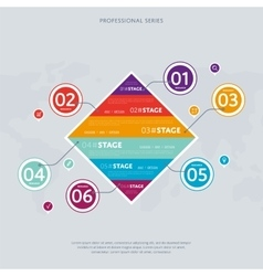 Business infographics concept with six stage vector