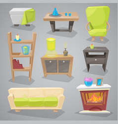 furniture furnishings design of couch and vector image vector image