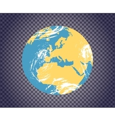 Globe Icon with Map vector image vector image