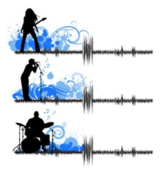 musical group vector image vector image