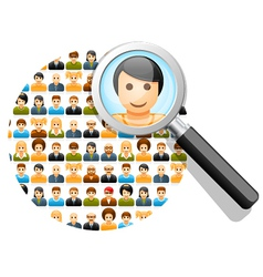 Search in social network vector image vector image
