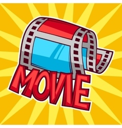 Cinema and movie advertising background in cartoon vector