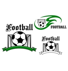 Football and soccer game symbols vector image vector image