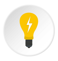 light bulb with lightning inside icon circle vector image vector image