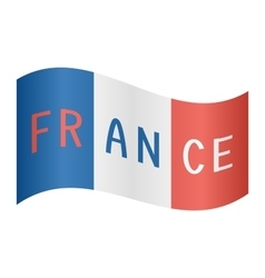 French flag waving with word France on white vector image