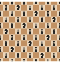 seamless pattern of chess on chessboard vector image vector image