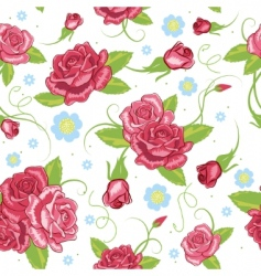 vector rose seamless background vector image vector image
