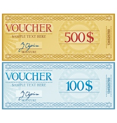 voucher design vector image