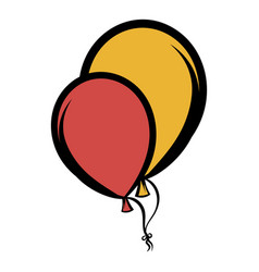 balloons icon cartoon vector image