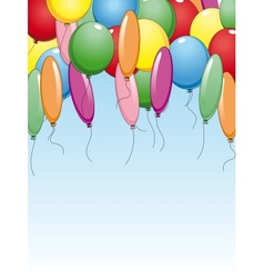 Colourful background with holiday balloons vector image