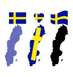 map of Sweden vector image