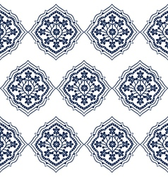 Persian Seamless White Floral Pattern Design vector image