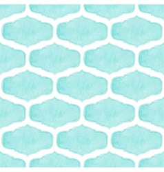 Watercolor seamless pattern with victorian frames vector image vector image