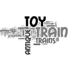 where to find antique toy trains text word cloud vector image vector image