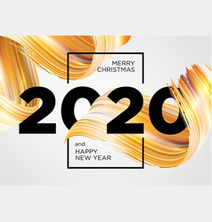 2020 happy new year background design greeting vector image