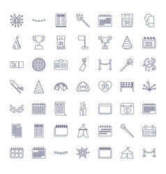 49 event icons vector