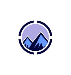 abstract mountain concept logo icon vector image