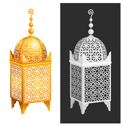 antique forged arabian lantern vector image