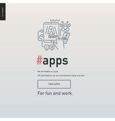 App development block website template vector