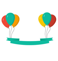 balloons with celebrate flags vector image