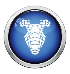 Baseball chest protector icon vector image