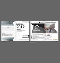 business template for fyer design portfolio vector image