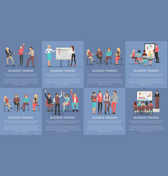 business training seminars set of posters vector image