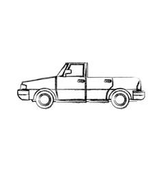 car convertible sport automobile transport vector image