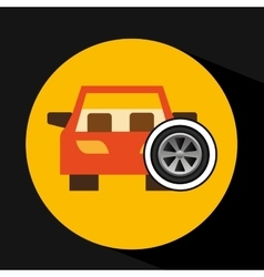 car front wheel icon design vector image