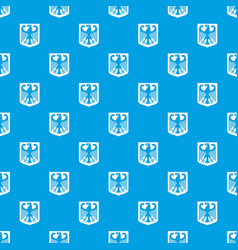 coat of arms of germany pattern seamless blue vector image