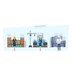 construction urban development concept vector image