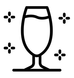 Coupe champagne icon outline style vector