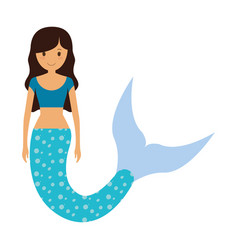 Cute smiling mermaid ico vector