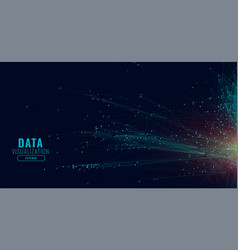 data technology network lines background vector image