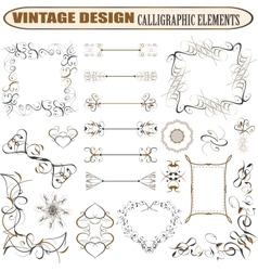 decorative ornate design elements vector image