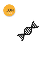 dna icon isolated flat style vector image