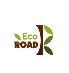 eco road label vector image