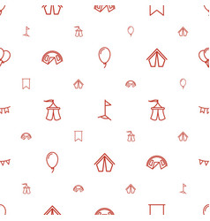 festival icons pattern seamless white background vector image