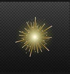 fireworks or firecrackers exploding realistic vector image
