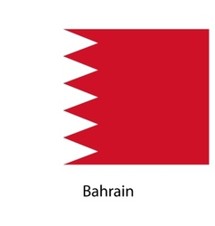 Flag of the country bahrain vector image