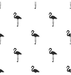 Flamingo icon in black style isolated on white vector
