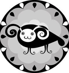 funny Chinese horoscope ram vector image
