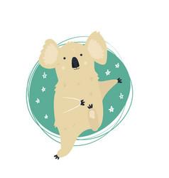 funny cute dancing koala vector image