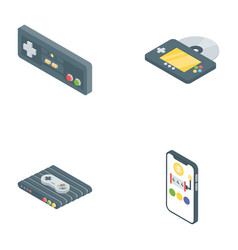 Gaming gadgets icons pack vector