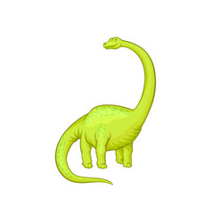 giant mamenchisaurus with long neck tail and vector image