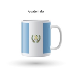 Guatemala flag souvenir mug on white background vector