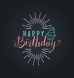 Happy birthday to you lettering design vector